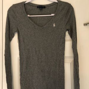 Polo V Neck Long Sleeve